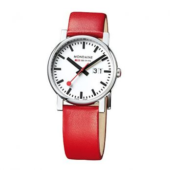 Mondaine Uhr | Armbanduhr Mondaine | Herrenuhr Mondaine | armbadnuhr rot herren