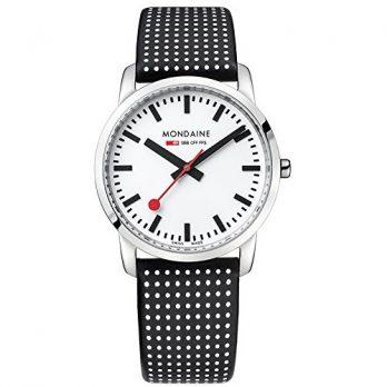 Mondaine Uhr | Armbanduhr Mondaine | Damenuhr Mondaine | damenuhr schwarz-weiß-silber