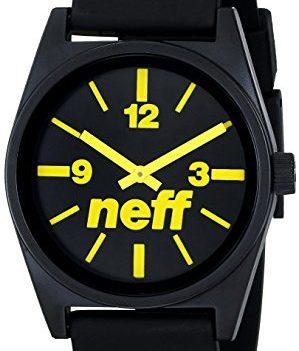 Neff Uhr | Armbanduhr Neff | schwarz-gelbe armbanduhr