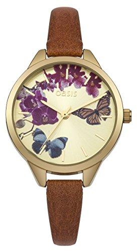 Oasis Uhr   Armbanduhr Oasis   Damenuhr Oasis   damenuhr mit schmetterlingmotiv
