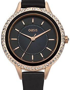 schwarze armbanduhr   Oasis Uhr   Armbanduhr Oasis   Damenuhr Oasis