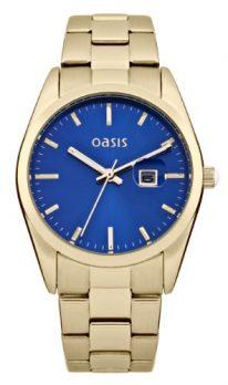 Oasis Uhr | Armbanduhr Oasis | Damenuhr Oasis | Armbanduhr mit blauem Ziffernblatt