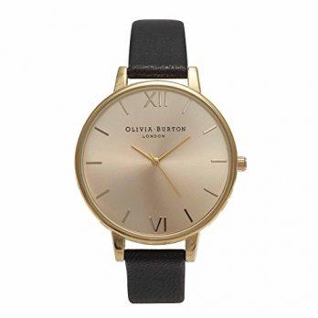Olivia Burton Uhr | Armbanduhr Olivia Burton | Damenuhr Olivia Burton | goldfarbige-schwarze armbanduhr