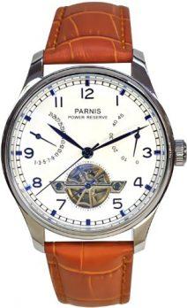 Parnis Uhren | Armbanduhr Parnis | Herrenuhr Parnis | Herrenuhr mit doppelseitiger verglasung | Lederarmbanduhr