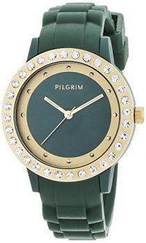 Pilgrim Uhr | Armbanduhr Pilgrim | Damenuhr Pilgrim | grüne Armbanduhr | silikonarmbanduhr grün | dunkelgrüne silikonarmbanduhr