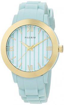 Pilgrim Uhr | Armbanduhr Pilgrim | Damenuhr Pilgrim | hellblaue armbanduhr | damenuhr hellblau | armbanduhr mit hellblauem silikonband | damenuhr hellblau mit silikonband