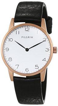 Pilgrim Uhr | Armbanduhr Pilgrim | Damenuhr Pilgrim | Lederarmbanduhr damen schwarz | schwarze lederarmbanduhr damen