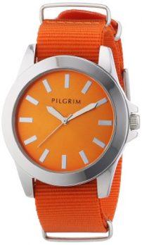 Pilgrim Uhr | Armbanduhr Pilgrim | Damenuhr Pilgrim | Armbanduhr orange | orange armbanduhr mit nylon | nylon armbanduhr damen