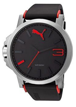 Puma Uhr | Armbanduhr Puma | Herrenuhr Puma | schwarz-rote armbanduhr
