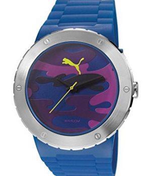 Puma Uhr | Armbanduhr Puma | Herrenuhr Puma | Armbanduhr mit Silikonband | Armbanduhr mit blauem silikonband