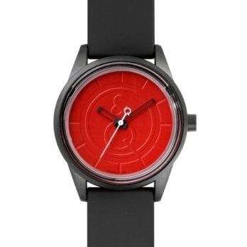 Quest & Quality Uhr | Armbanduhr Quest & Quality | schwarze armbanduhr mit rotem Ziffernblatt | Solaruhr | Armbanduhr mit Solarfunktion