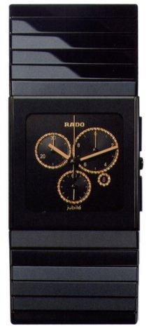 Rado Ceramica Herren Diamanten Chronograph Schwarz Keramik Armband