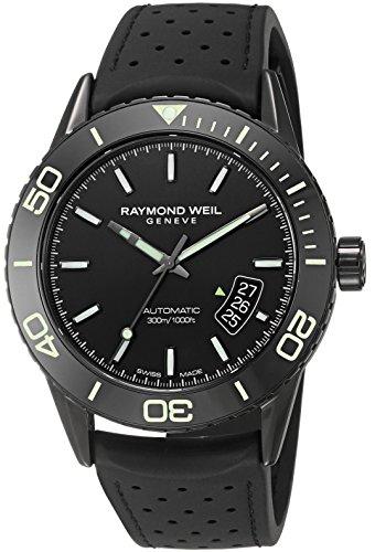 raymond weil herren armbanduhr 42mm schwarz schweizer automatik 2760 sb1 20001. Black Bedroom Furniture Sets. Home Design Ideas