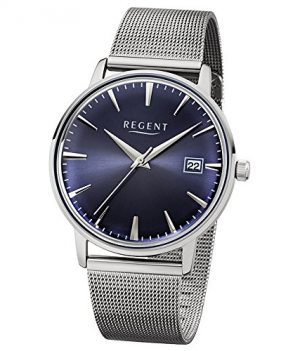 Regent Uhr | Armbanduhr Regent | Damenuhr Regent | Herrenuhr Regent | silber-dunkelblaue armbanduhr