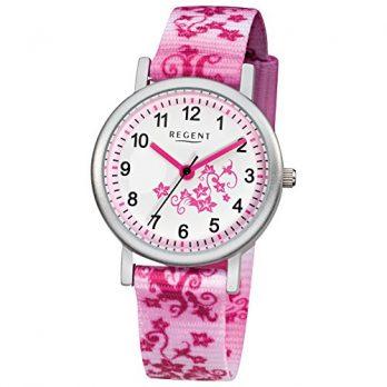 Regent Uhr | Armbanduhr Regent | Kinderuhr Regent | kinderarmbanduhr pink | mädchen armbanduhr | armbanduhr kinder mit textilband
