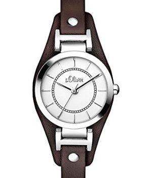 s.Oliver Uhr   Armbanduhr s.Oliver   Damenuhr s.Oliver   Armbanduhr damen mit breiterem Lederband