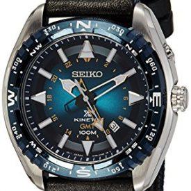 Seiko Uhr | Armbanduhr Seiko | Herrenuhr Seiko | schwarz-blaue armbanduhr herren | textil-lederarmband