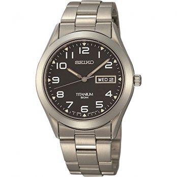 Seiko Uhr | Armbanduhr Seiko | Herrenuhr Seiko | herrenuhr mit schwarzem ziffernblatt | herrenuht titanium