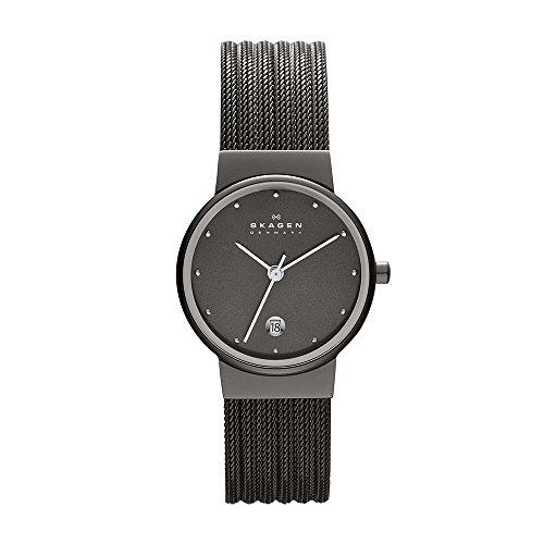 Skagen Uhr | Armbanduhr Skagen | Damenuhr Skagen | dunkelgraue armbanduhr damen