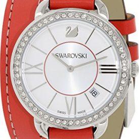 Swarovski Uhr | Armbanduhr Swarovski | Damenuhr Swarovski | rote damen armbanduhr