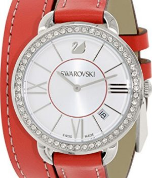 Swarovski Uhr   Armbanduhr Swarovski   Damenuhr Swarovski   rote damen armbanduhr