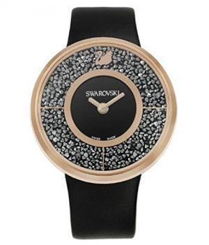 Swarovski Uhr   Armbanduhr Swarovski   Damenuhr Swarovski   schwarze damen armbanduhr