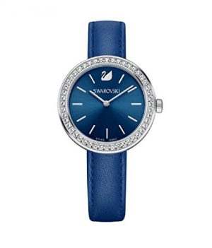 Swarovski Uhr   Armbanduhr Swarovski   Damenuhr Swarovski   blaue damen armbanduhr