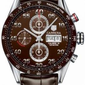 Tag Heuer Uhr | Armbanduhr Tag Heuer | Herrenuhr Tag Heuer | Braune lederuhr | dunkelbraune lederarmbanduhr