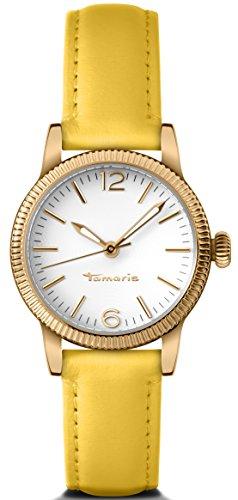 Tamaris Uhr | Armbanduhr Tamaris | Damenuhr Tamaris | gelbe Armbanduhr | gelber lederarmbanduhr