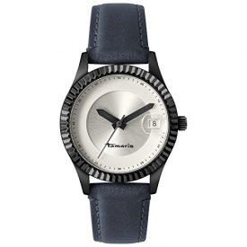 Tamaris Uhr | Armbanduhr Tamaris | Damenuhr Tamaris | dunkelblaue lederarmbanduhr | blaue damenuhr