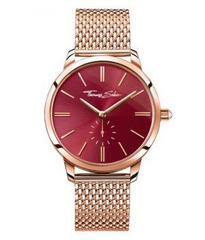 Thomas Sabo Uhr | Armbanduhr Thomas Sabo | Damenuhr Thomas Sabo | rosegold-rot farbige armbanduhr | armbanduhr mit rotem ziffernblatt