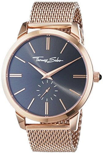 thomas sabo herren armbanduhr rebel spirit rosegold braun analog quarz. Black Bedroom Furniture Sets. Home Design Ideas