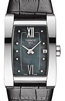Tissot Uhr | Armbanduhr Tissot | Damenuhr Tissot | damenuhr schwarz | schwarze lederarmbanduhr damen | ziffernblatt Perlmutt