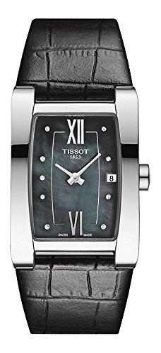 Tissot Uhr   Armbanduhr Tissot   Damenuhr Tissot   damenuhr schwarz   schwarze lederarmbanduhr damen   ziffernblatt Perlmutt