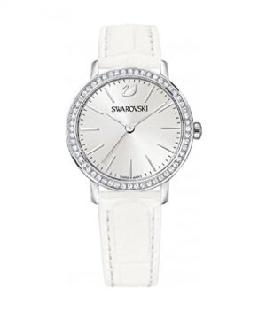 Swarovski Uhr   Armbanduhr Swarovski   Damenuhr Swarovski   weiße damen armbanduhr