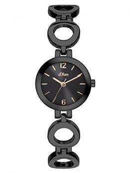 s.Oliver Uhr | Armbanduhr s.Oliver | Damenuhr s.Oliver | schwarze damen armbanduhr