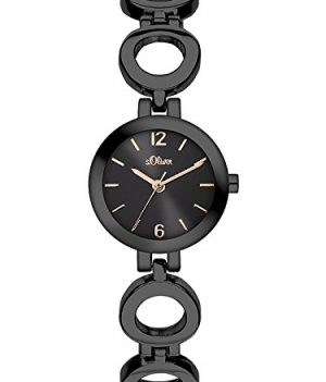 s.Oliver Uhr   Armbanduhr s.Oliver   Damenuhr s.Oliver   schwarze damen armbanduhr
