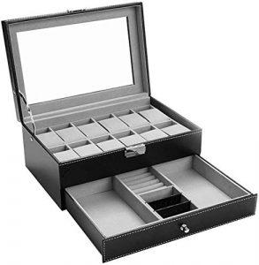 Uhrenbox, Aufbewahrungsbox für Armbanduhren. Armbanduhr Organizer, Uhren Organizer